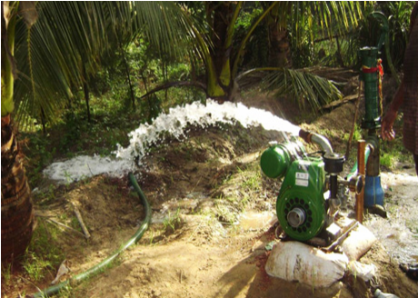 Ground water extraction in farm site